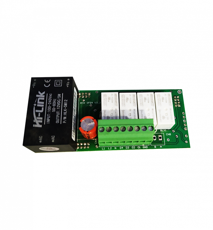 Applied RS485 4 Relay Module is for operating multiple loads